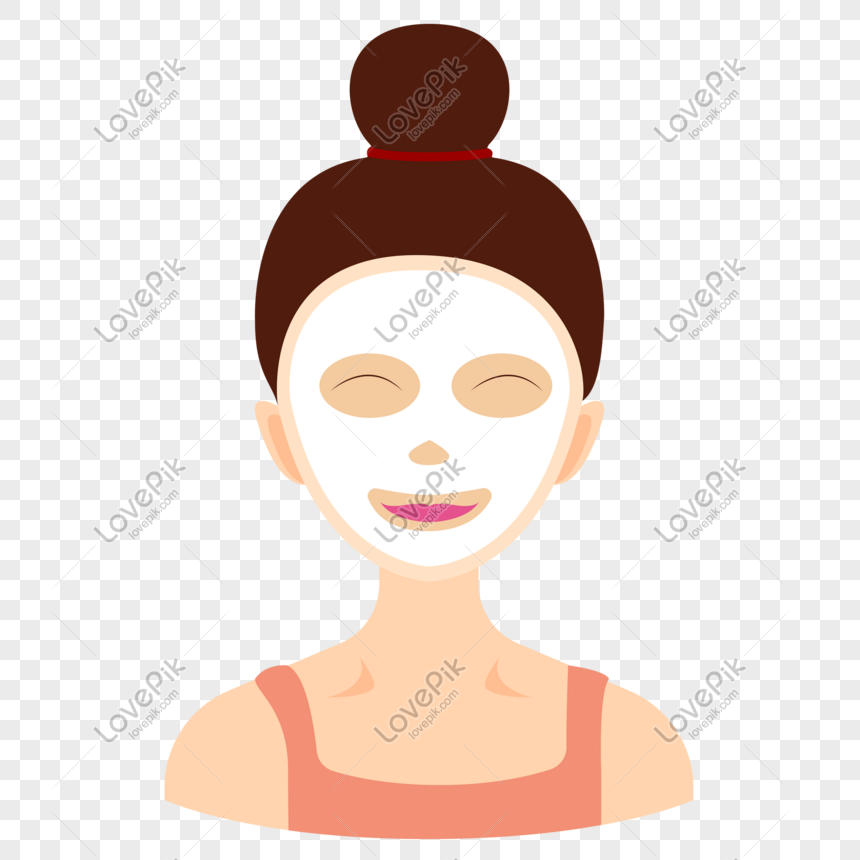 girl making facial mask png image picture free download 401015446 lovepik com girl making facial mask png