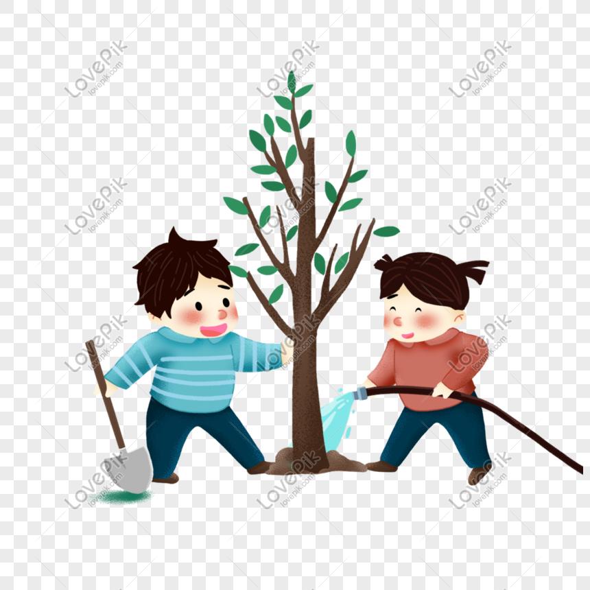 Lovepik صورة Png 401022324 Id الرسومات بحث صور طفل يزرع شجرة
