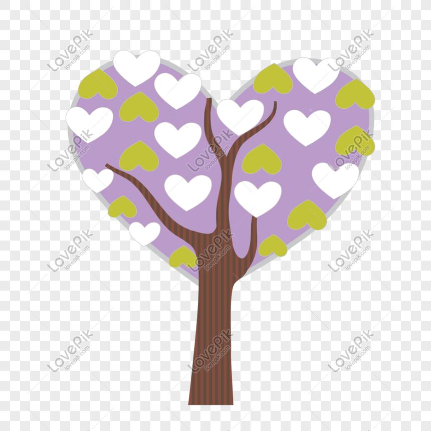 Purple Love Tree Png Image Psd File Free Download Lovepik 401025629