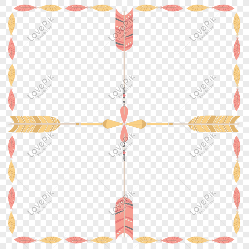 dream feather bow and arrow decorative text box png