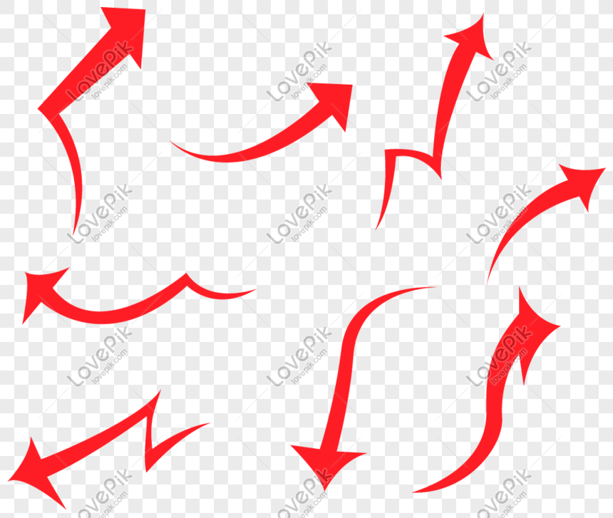 red arrow element png