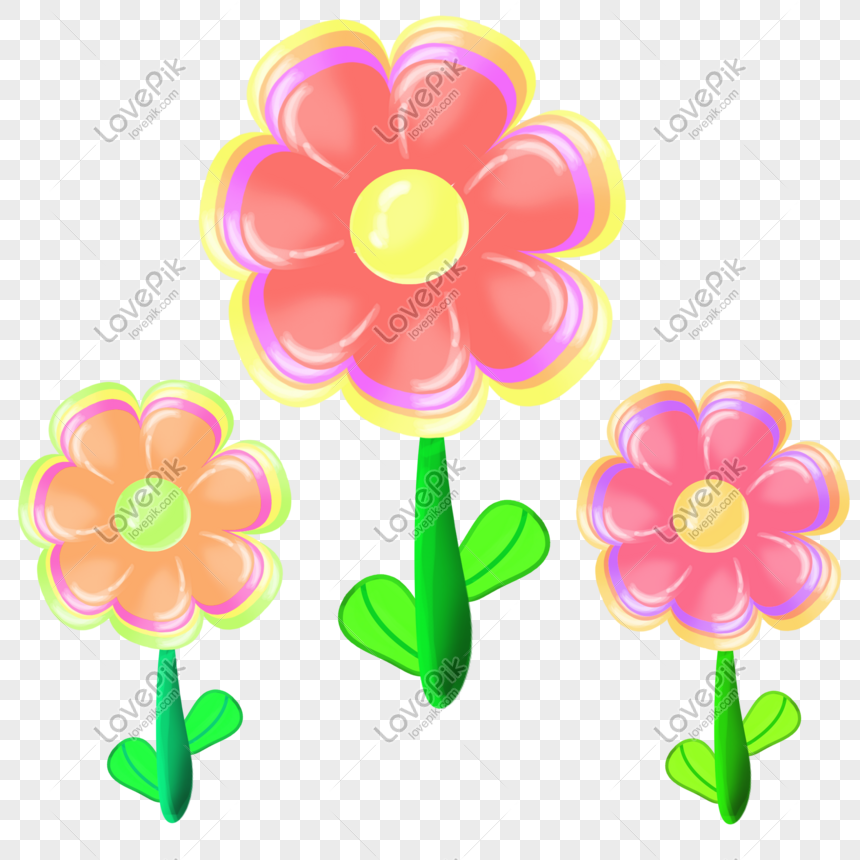 Colored Flowers Png Image Picture Free Download 401039198 Lovepik Com