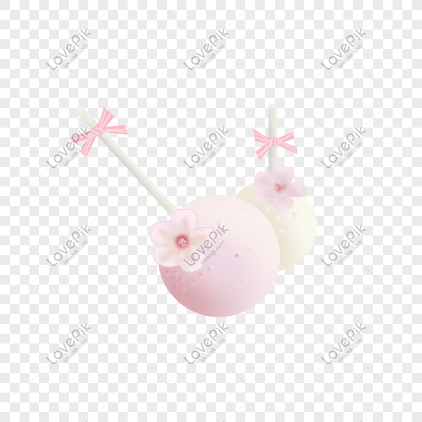 japanese cherry blossom lollipop png