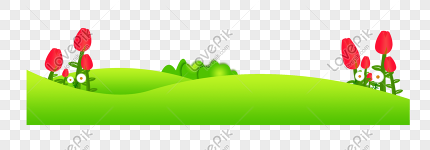 hand painted cartoon green vigorous spring lawn flowers png image picture free download 401045000 lovepik com hand painted cartoon green vigorous