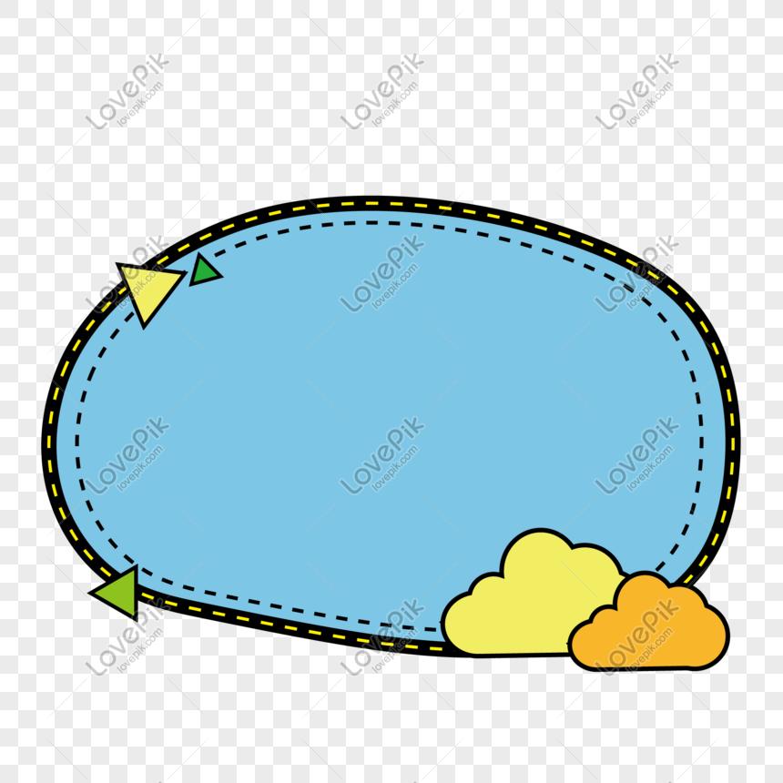 vector elliptical cloud border png
