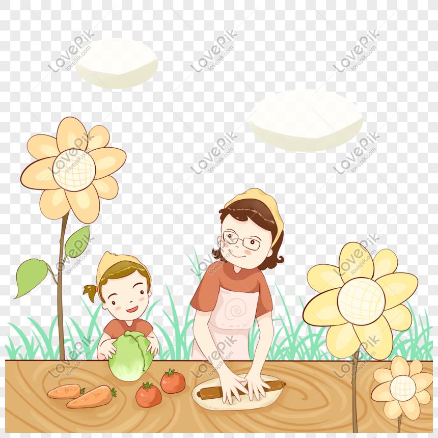 Memasak Ibu Dan Anak Perempuan Gambar Unduh Gratis Imej 401063253 Format Psd My Lovepik Com