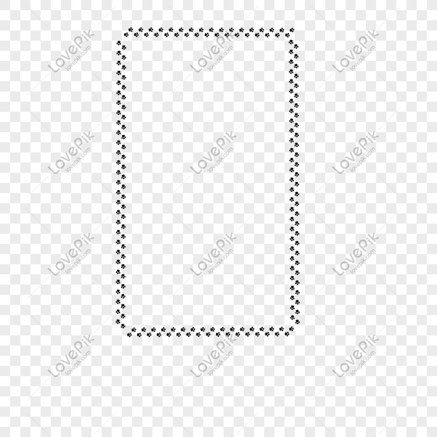 Perro Huellas Elemento Frontera Imagen Descargarprf Gráficos