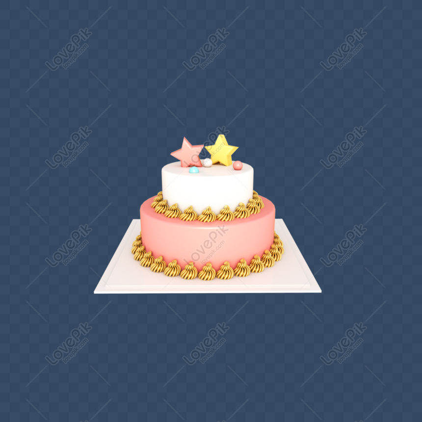 Peachy Double Layer Cake For Cartoon Birthday Cake Decorated By C4D Ste Funny Birthday Cards Online Inifodamsfinfo