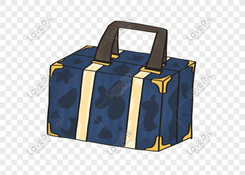 Mala De Bagagem Simples Dos Desenhos Animados Imagem