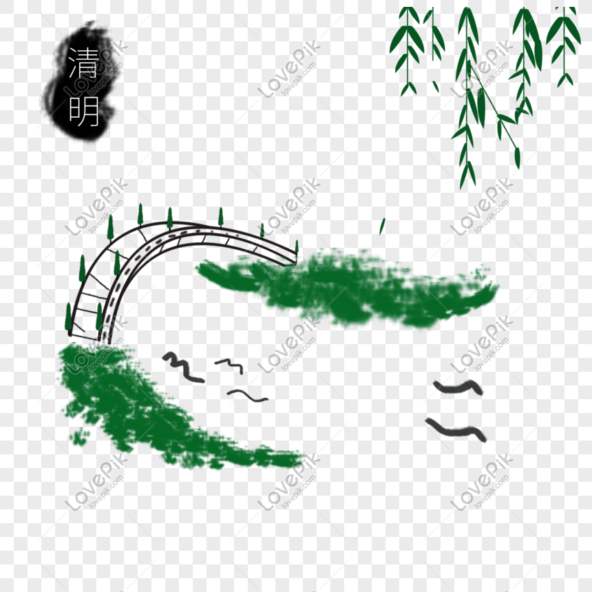 qingming ink painting png