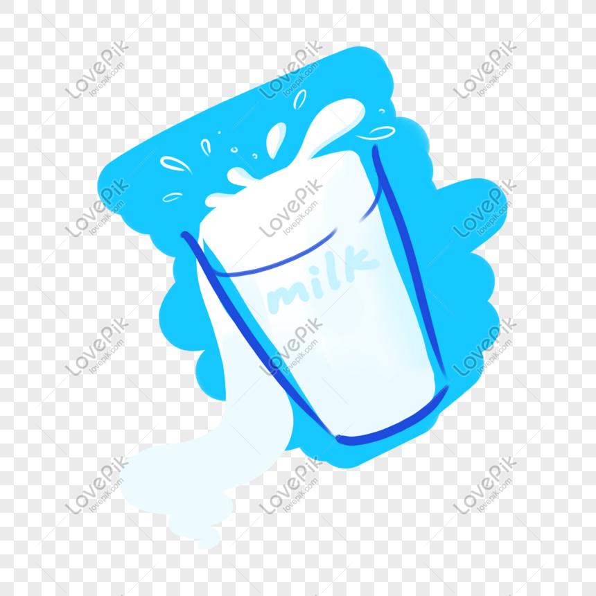 Cốc Sữa Nguyên Chất Màu Xanh Và Trắng Hình ảnh định Dạng