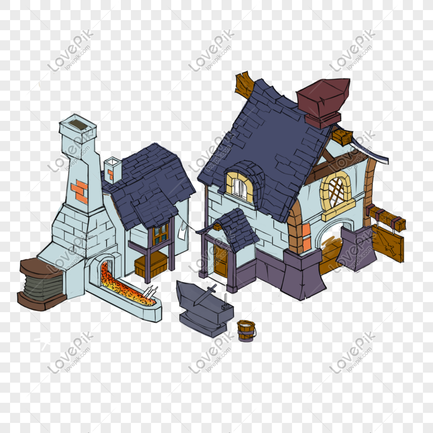 q edition cute small house png