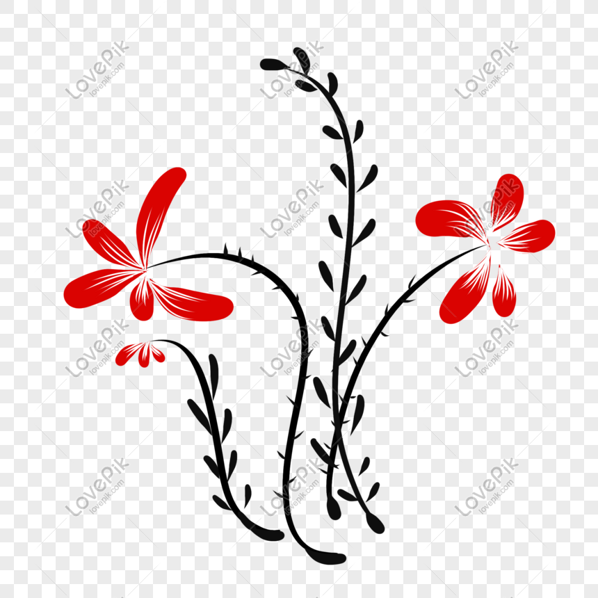 Bunga Simpel Dan Gaya Png Grafik Gambar Unduh Gratis Lovepik