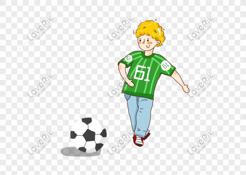 Kartun Lelaki Lucu Bermain Bola Sepak Gambar Unduh Gratis Imej 401091959 Format Psd My Lovepik Com