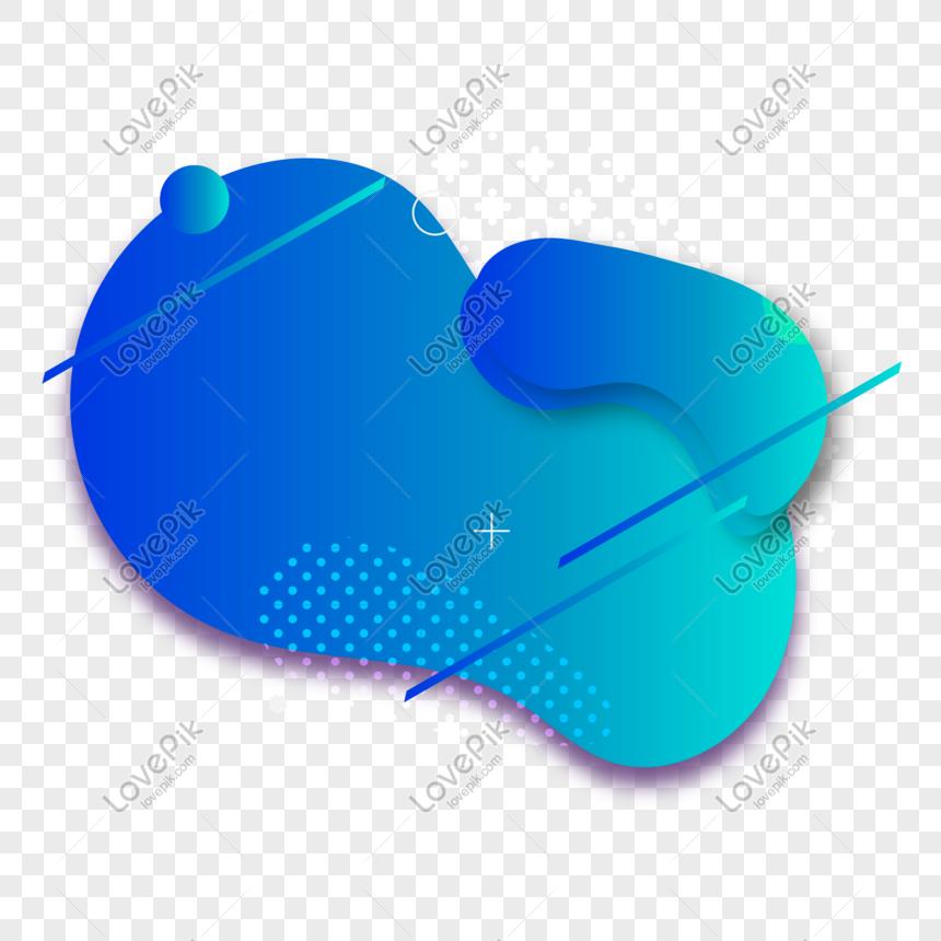 blue technology sense fluid gradient background png