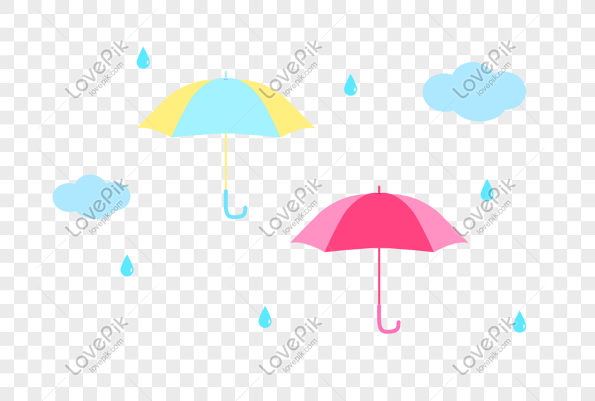Paraguas Gota De Lluvia Nube Vector Pequeño Material Imágenes De Gráficos Png Gratis Lovepik