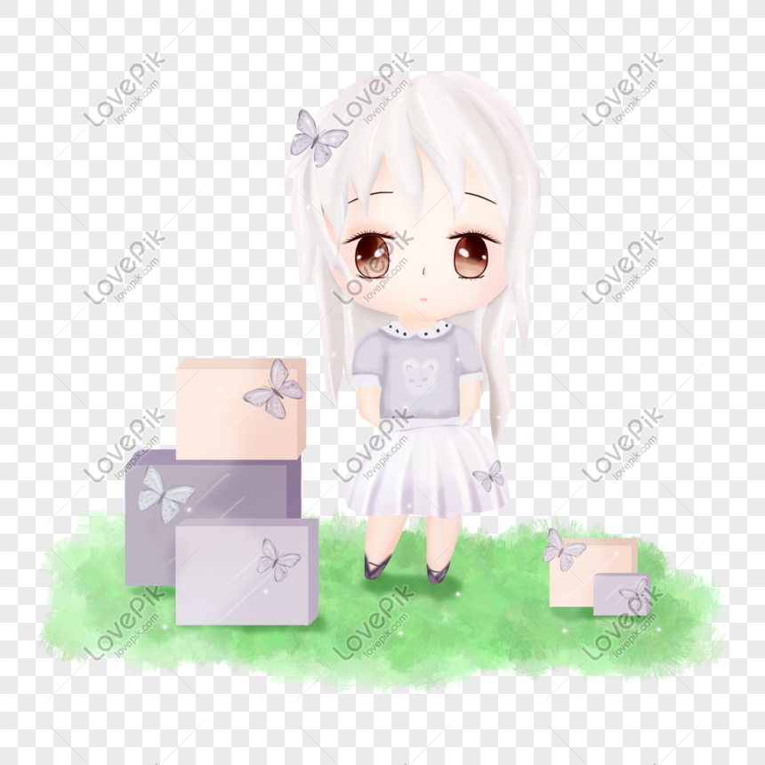 q edition cute girl png
