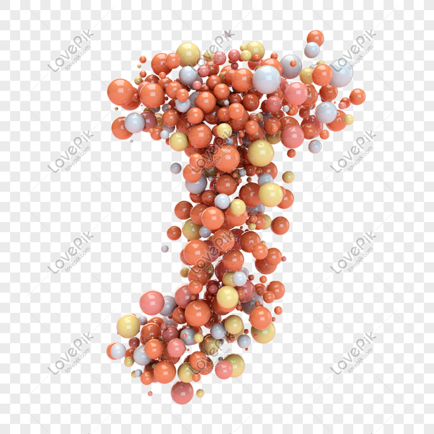 coloured balloons form the letter j png