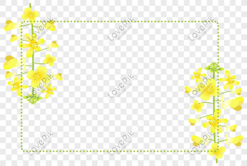 Sari Cicek Cerceve Cicek Dekorasyonu Resim Grafik Numarasi 401104108 Tr Lovepik Com