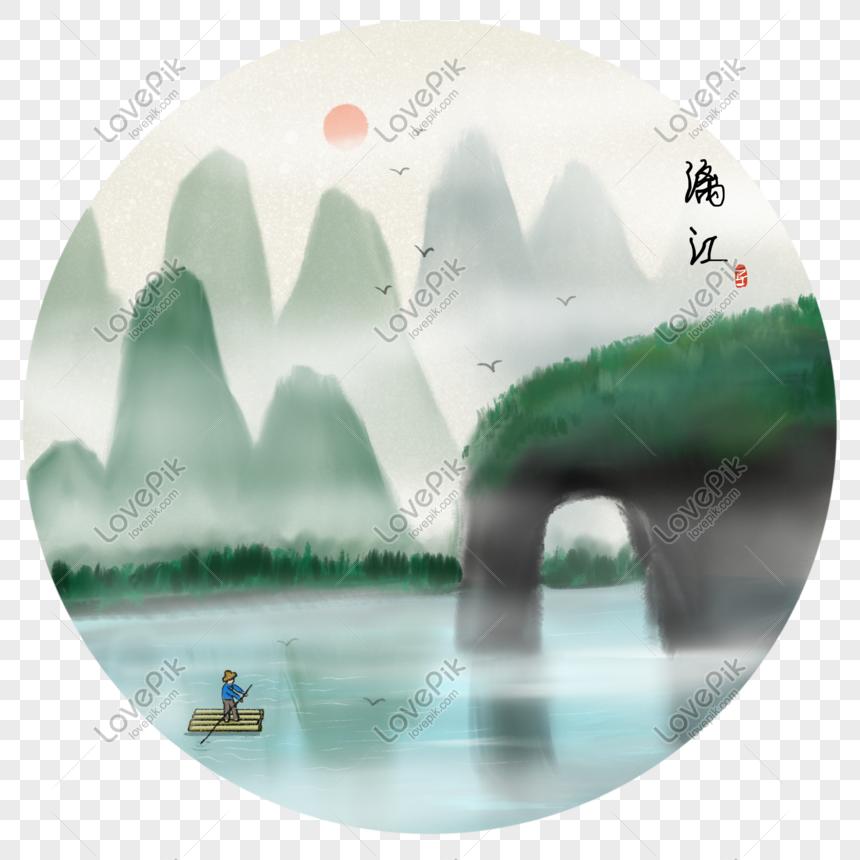 Pemandangan Sungai Fengjiang Di China Gambar Unduh