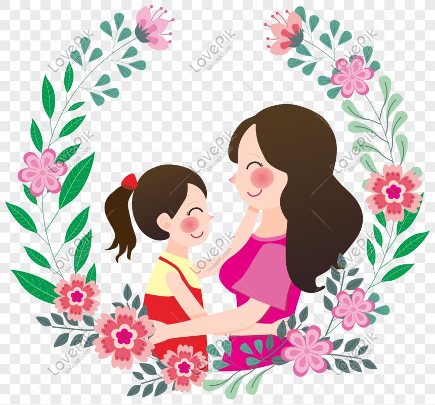Ibu Dan Anak Perempuan Memeluk Elemen Kartun Gambar Unduh Gratis Imej 401116216 Format Cdr My Lovepik Com