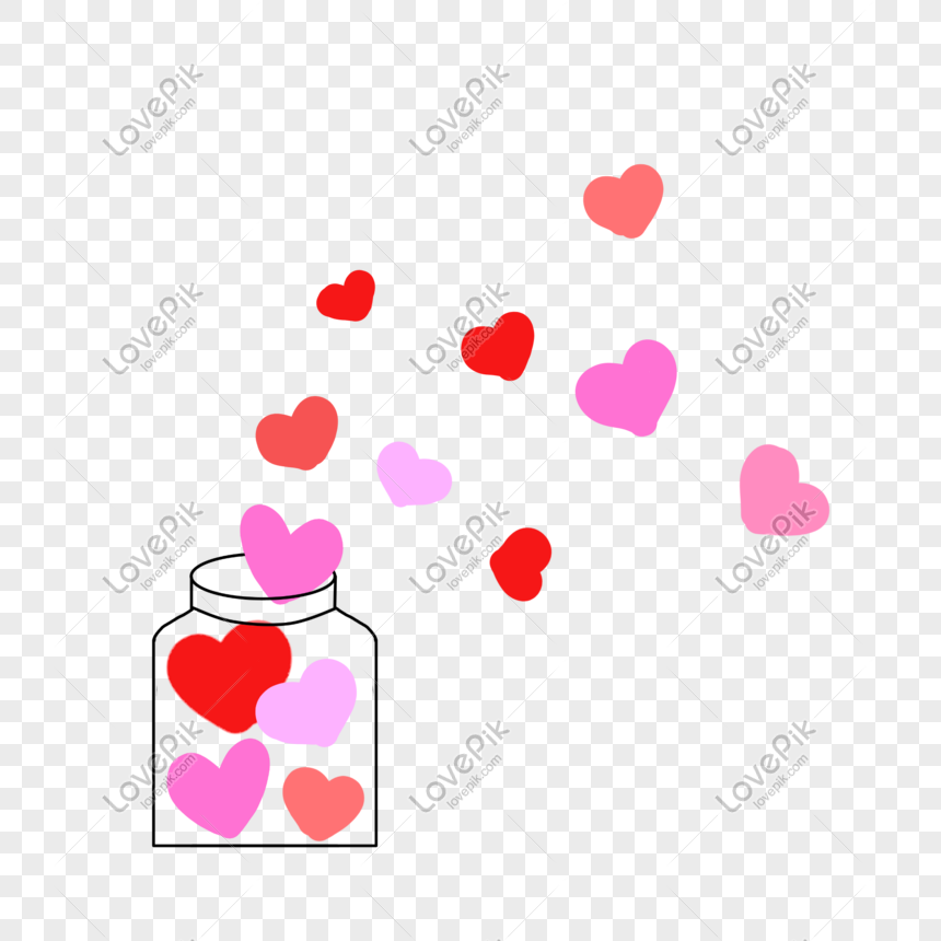 Hand Painted Decorative Pattern Of Red And Pink Love On Valentin Png Image Picture Free Download 401121018 Lovepik Com