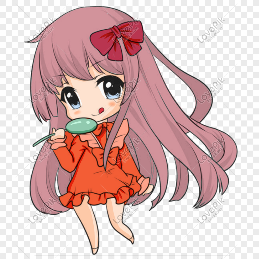 a girl with a spoon png