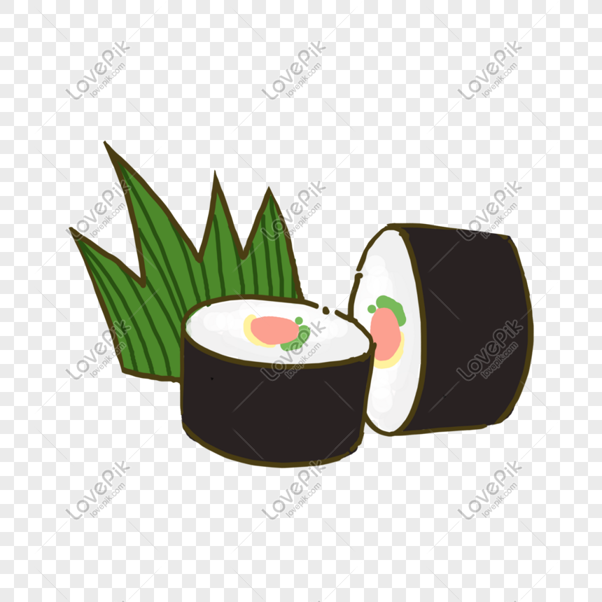 sushi japanese food too roll food cartoon png