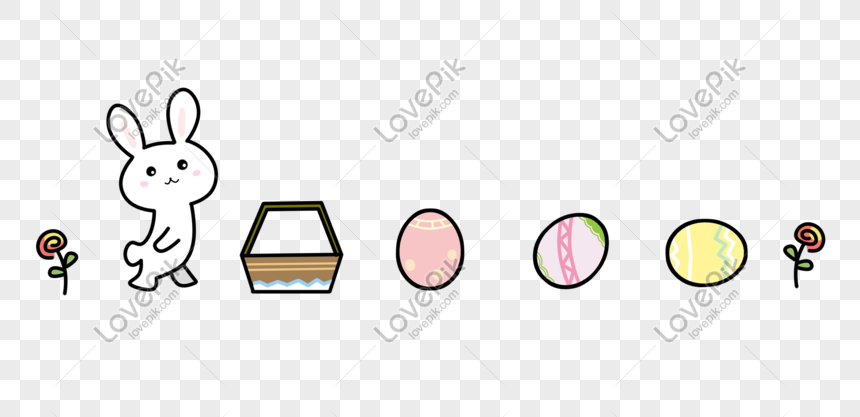 Cute Easter Bunny Egg Split Line Png Image Picture Free Download 401123774 Lovepik Com
