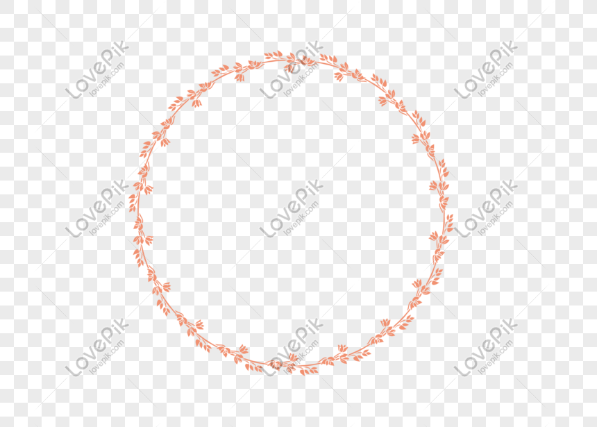 round plant border png