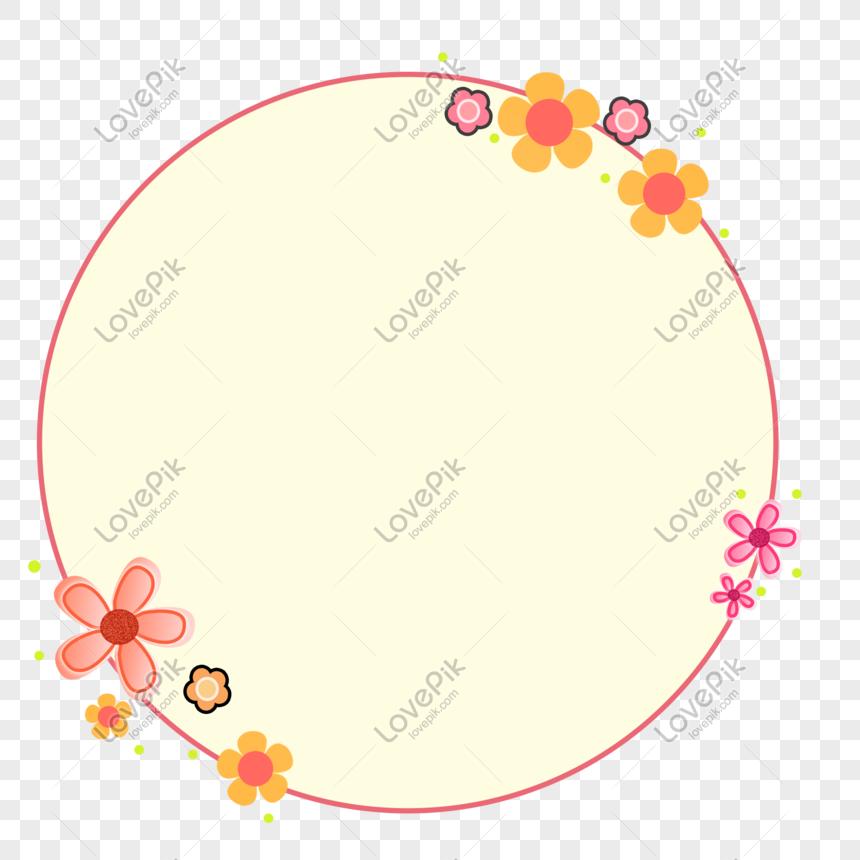 bingkai bulat bunga yang digambar tangan png grafik gambar unduh gratis lovepik bingkai bulat bunga yang digambar