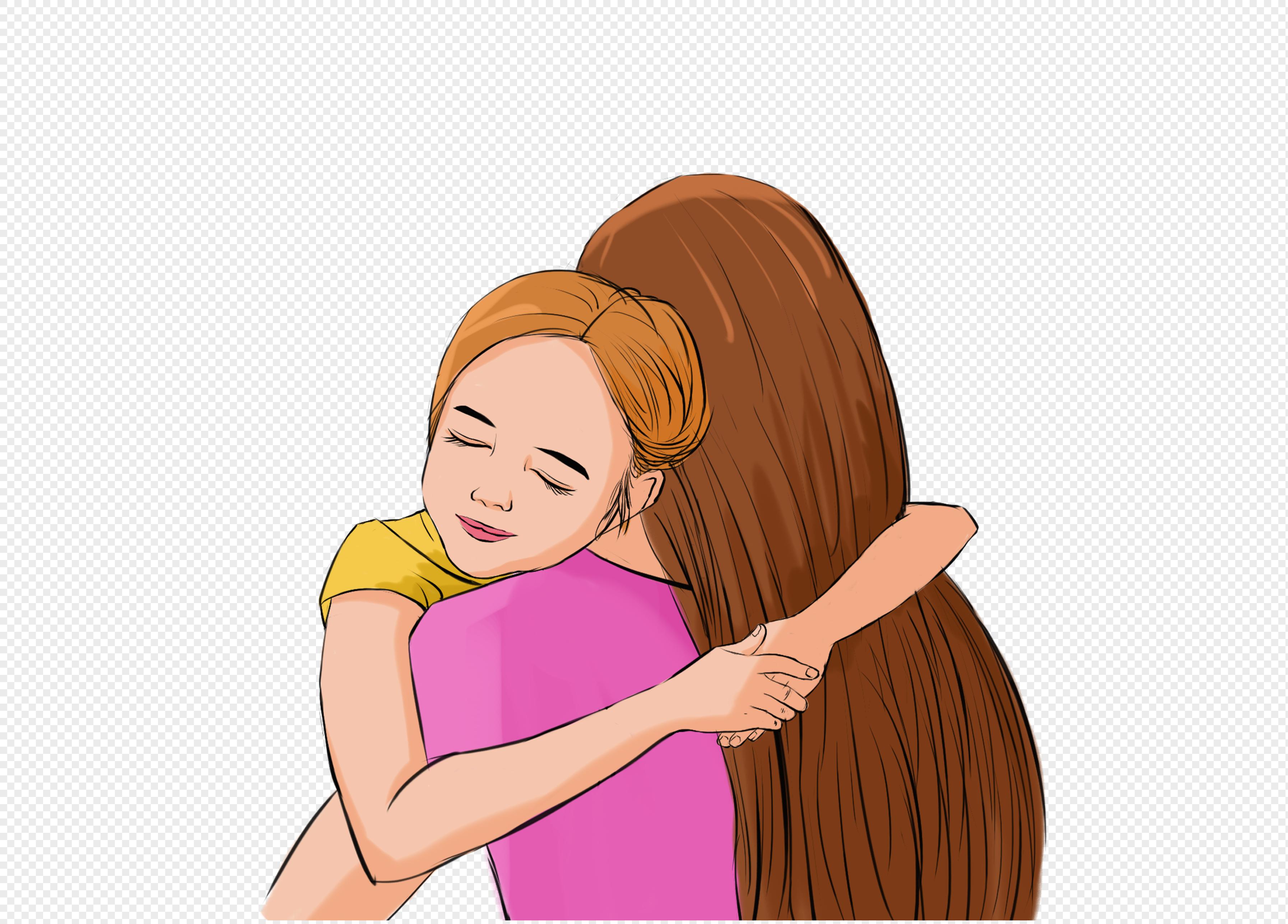обнимать маму себя в картинках