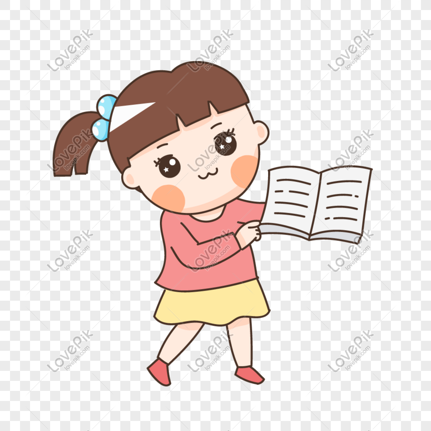 reading book child png
