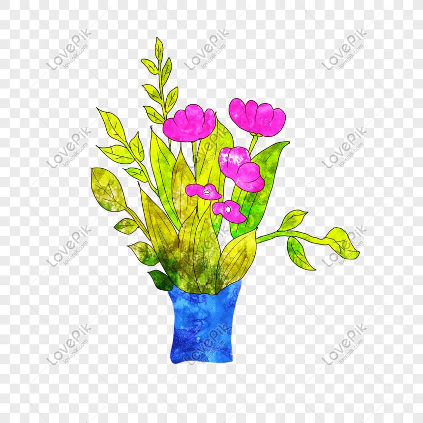 Bunga Dalam Vas Png Grafik Gambar Unduh Gratis Lovepik