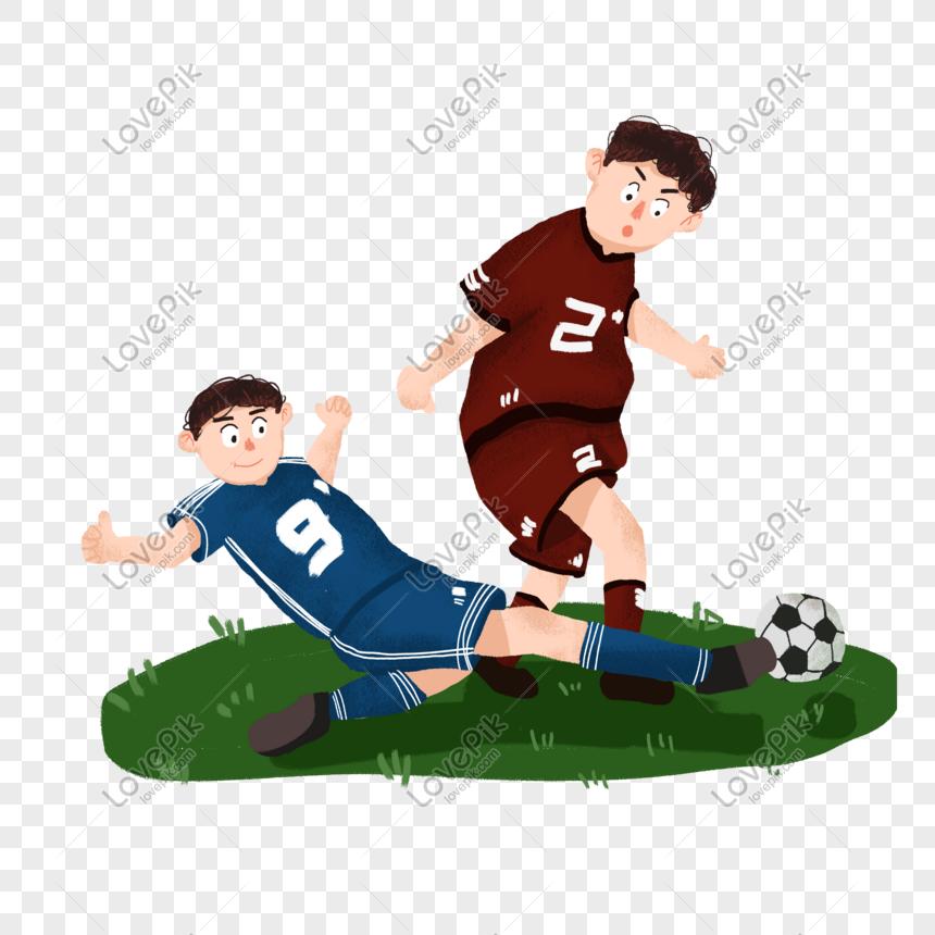 boys playing football png