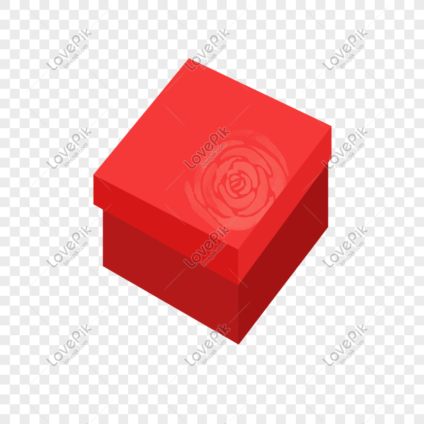 caixa de presente quadrada png