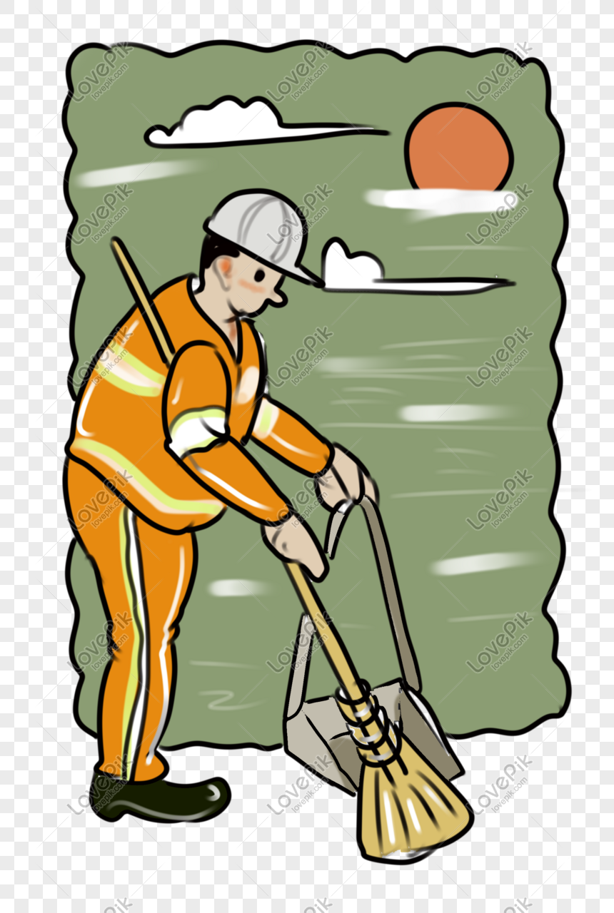 Kartun Kreatif Pekerja Sanitasi Gambar Unduh Gratis Imej 401139783 Format Psd My Lovepik Com