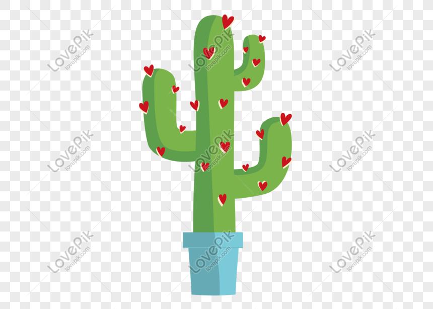 Kartun Kaktus Tanaman Minimalis Png Grafik Gambar Unduh Gratis Lovepik