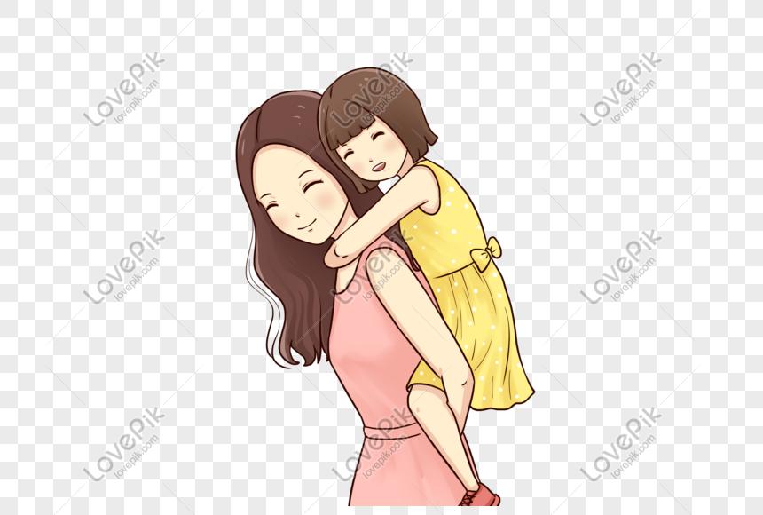 85 Gambar Kartun Ibu Dan Anak Perempuan Gambar Pixabay