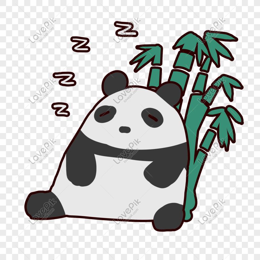 Paket Ekspresi Tidur Panda Lucu Gambar Unduh Gratis Grafik