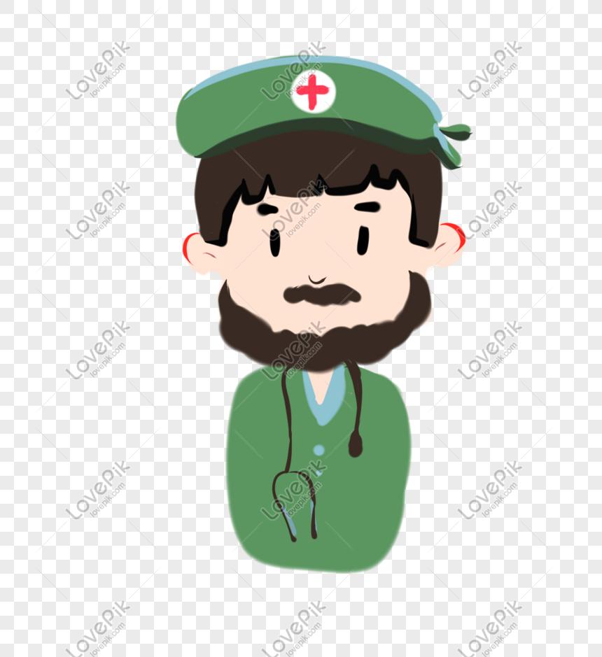 Kartun Lucu Tangan Ditarik Karakter Perawat Sakit Hari