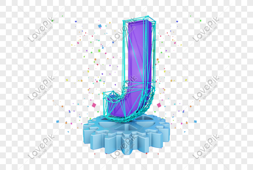 stereo english letter j png