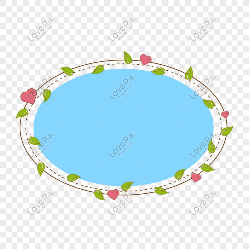 elliptical green leaf border png