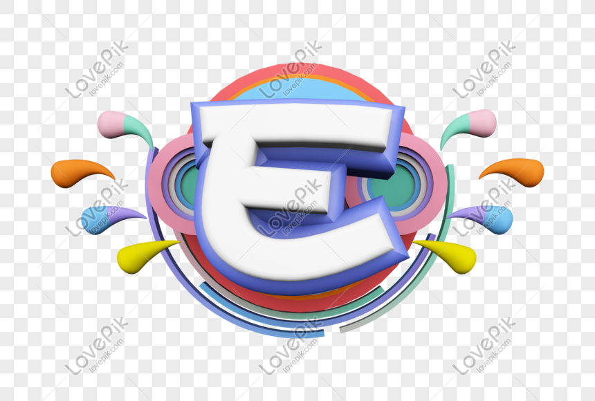 stereo english letter e png