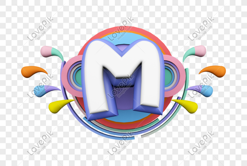 stereo english letter m png