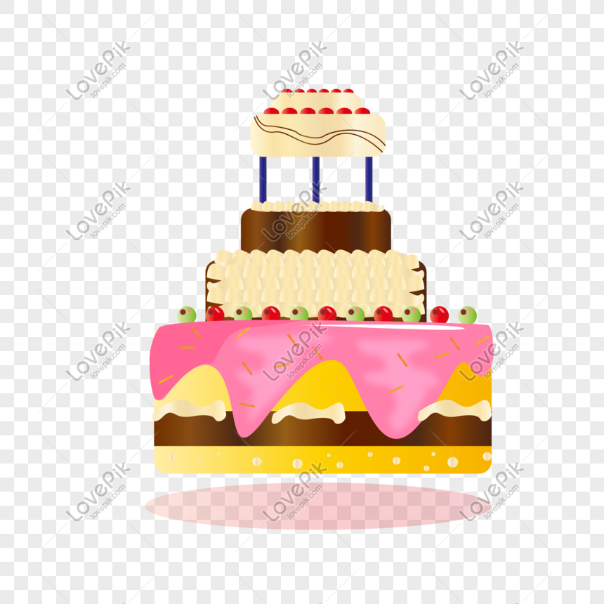 Excellent Flat Luxury Cake Vector Image Picture Free Download Funny Birthday Cards Online Inifodamsfinfo
