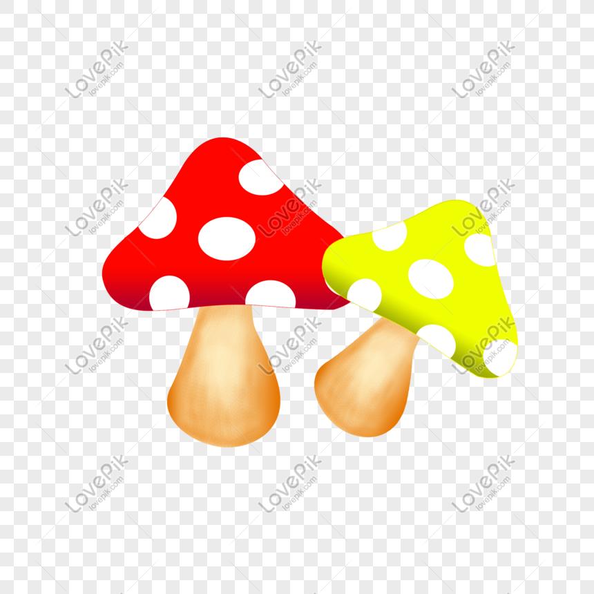 Gambar Jamur Kartun Berwarna