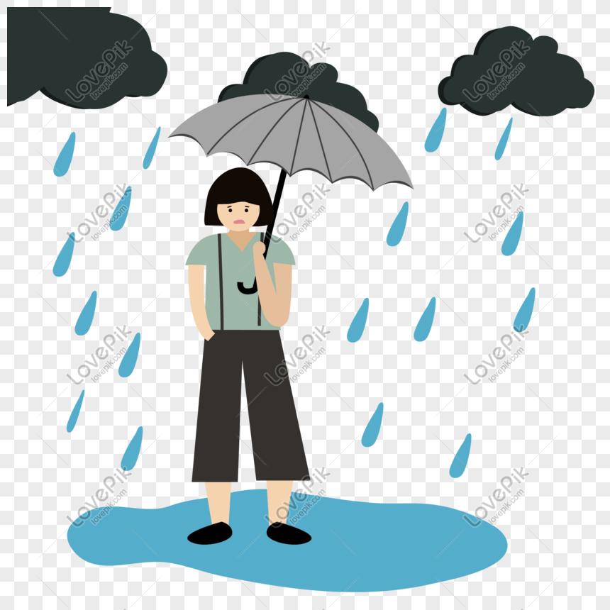 95+ Gambar Animasi Hujan Deras Terlihat Keren