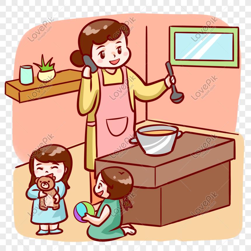 Memasak Ibu Untuk Kanak Kanak Gambar Unduh Gratis Imej 401172247 Format Psd My Lovepik Com