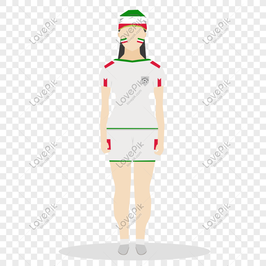 Flat world cup fan character vector png image_picture free